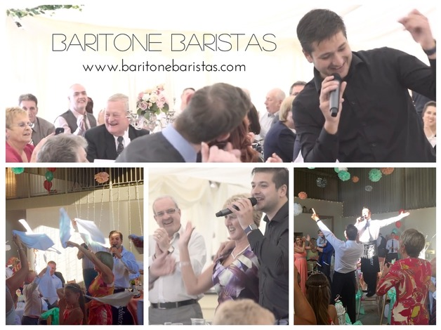 Singing Waiters for your Wedding or any Occasion - The Baritone Baristas - Excellent Prices! in H
