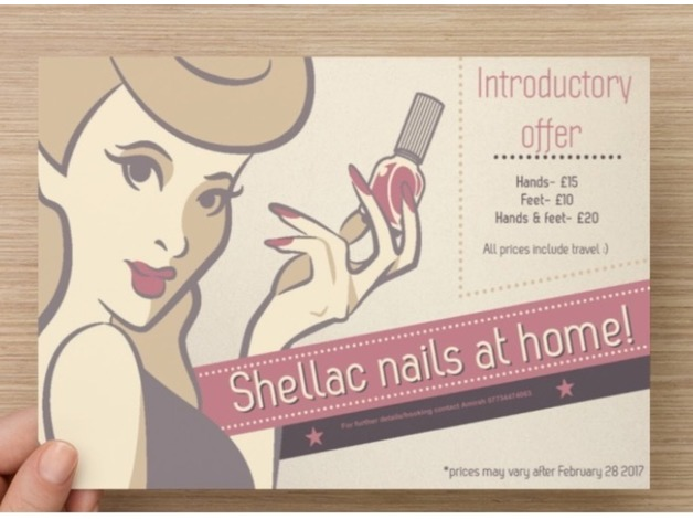 Shellac nails from home  in Leicester