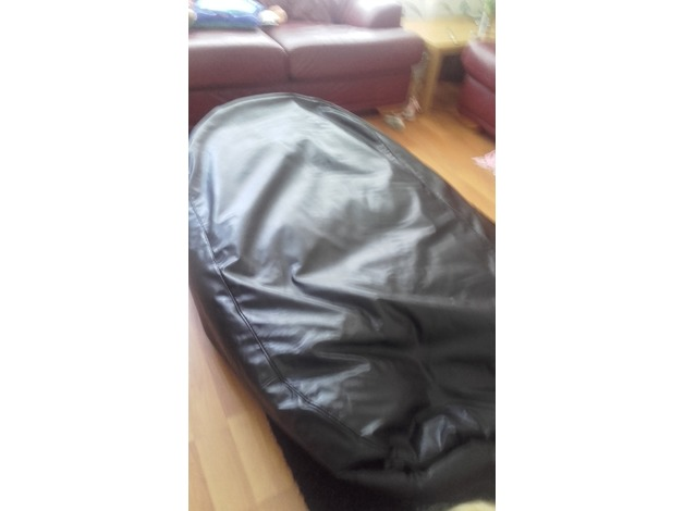 Large black Faux leather Bean bag in Liverpool