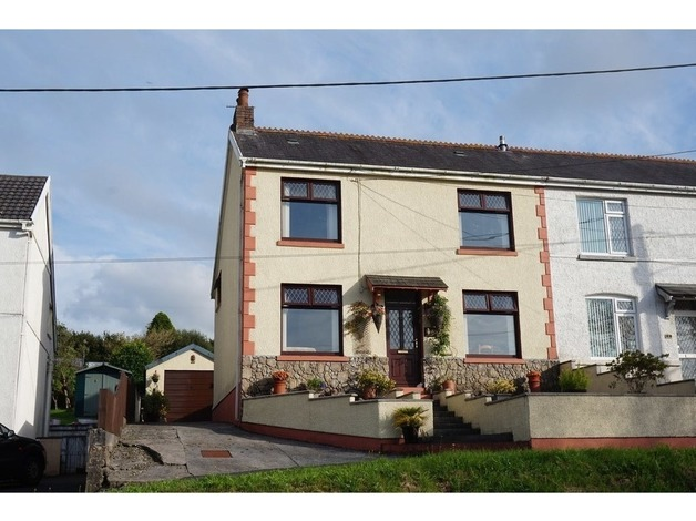 3 Bedroom semi detached house with excellent views and ample parking spaces in Llanelli	 - 1