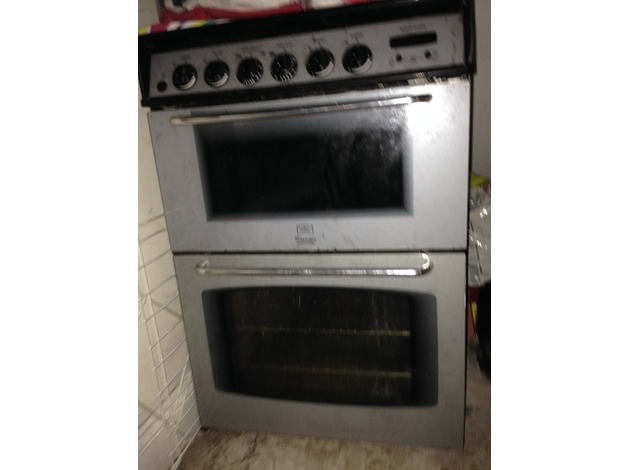 Gas cooker gray n black separate gas grill glass lid to four gas burners . in Mansfield