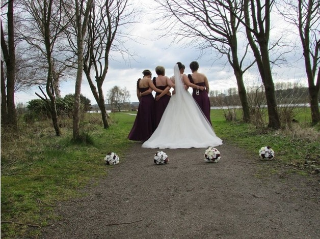 Full bridal party artificial flower package in Motherwell