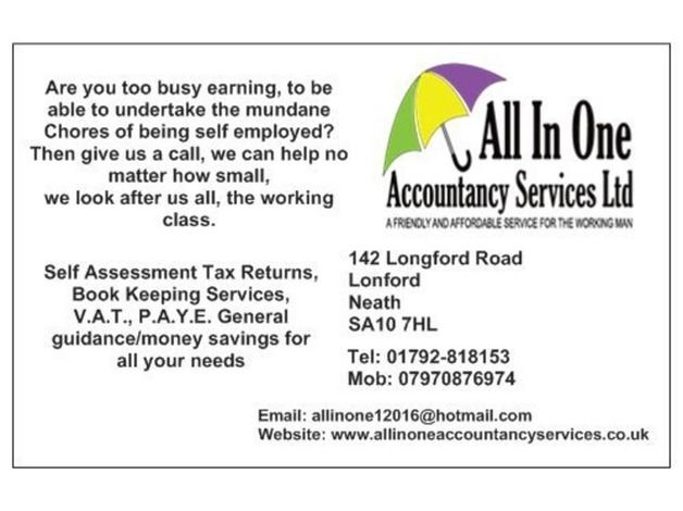 Affordable tax return and accountancy services in Neath