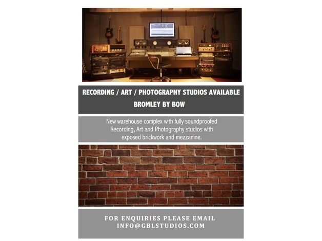 Music / Photography / Art Studios to rent in East London! in Newham