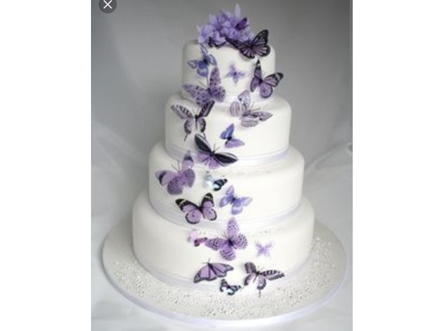 Butterfly themed Wedding Cakes in Nuneaton