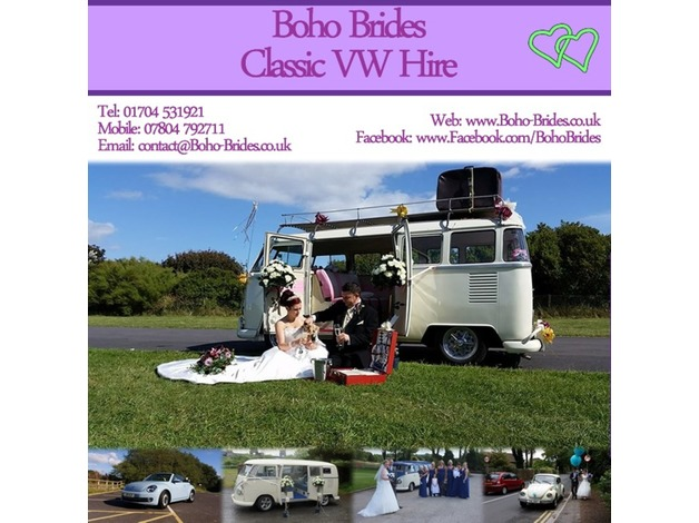 Boho Brides provide vintage VW campervan hire for weddings and special occasions. Arrive in style
