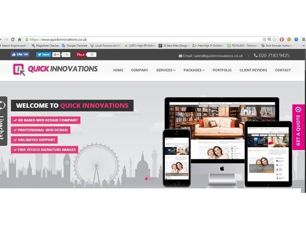 Get responsive website from professional web design company in London in Tower Hamlets