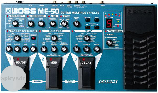 BOSS ME50 Guitar Multiple Effects Pedal in Hartswater